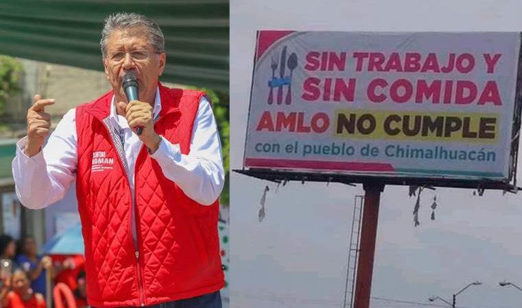 Alcalde antorchista de Chimalhuacán gasta dinero en espectaculares contra AMLO