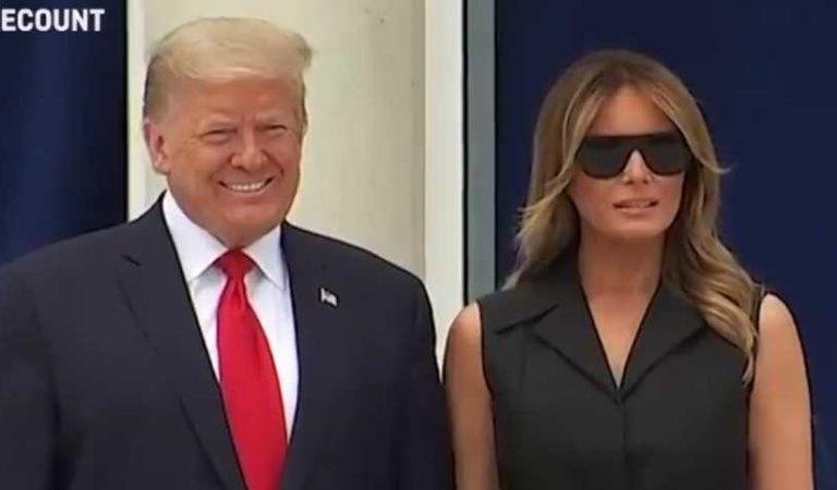 Trump obliga a Melania a sonreír, gesto se viraliza en redes (video)