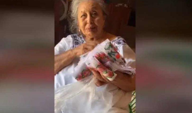Abuelita no podía vender sus costuras; nieto hizo un TikTok y se vuelve viral