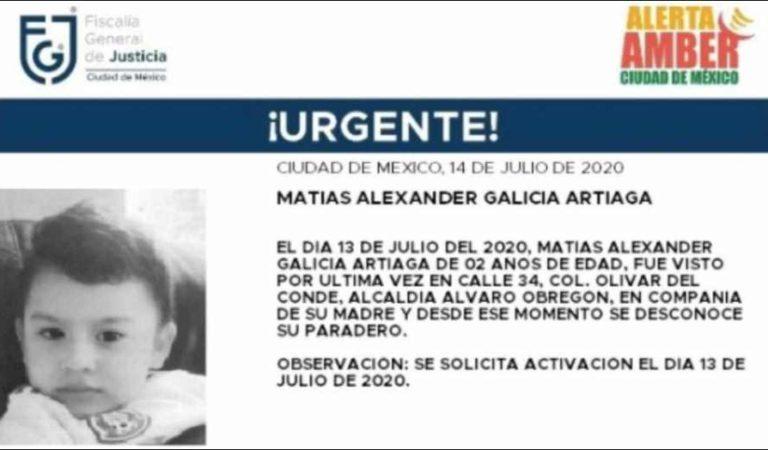 Activan Alerta Amber por Matías Alexander Galicia Artiaga, de 2 años de edad