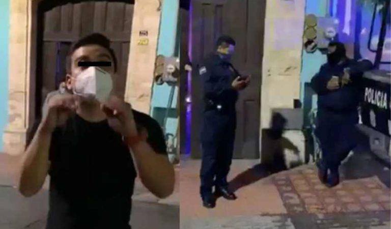 'Tú no me puedes correr de la calle porque es pública': hombre denuncia aglomeración en bar y lo atacan a patadas   VIDEO