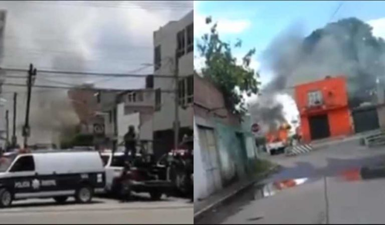 CJNG quema una camioneta, dos casas y un taller mecánico; hay un muerto | VIDEO