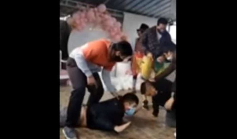Detienen a sicario en pleno baby shower; todos pensaban que era parte del show | VIDEO