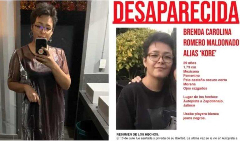 Ella es 'Kore' y desapareció en la autopista de Guadalajara; alcanzó a pedir ayuda por celular