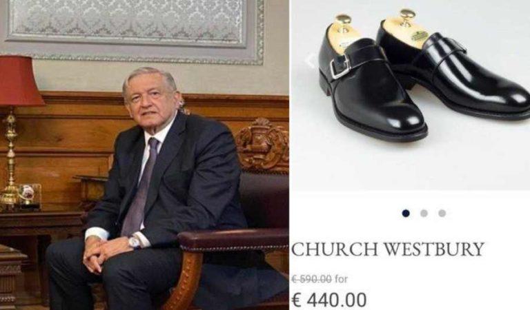 Opositores critican a AMLO por usar zapatos Flexi, dicen que son carísimos