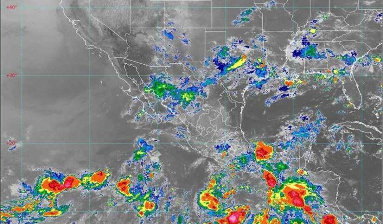 Prevén fuertes lluvias, descargas eléctricas y posibles granizadas en diferentes estados