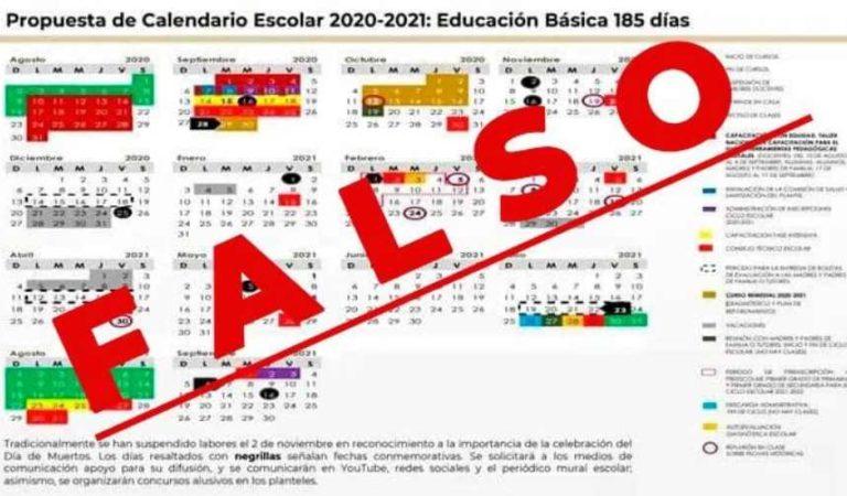 SEP alerta por calendario escolar falso que circula en Whatsapp