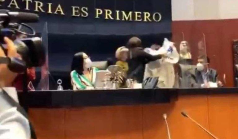 Senadora de Morena protagoniza pelea en el Senado; la apodan #AntaresLadyAbusiva