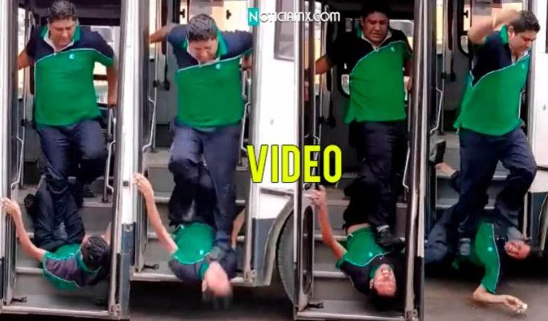 Choferes transporte público se agarran a golpes en Oaxaca   video