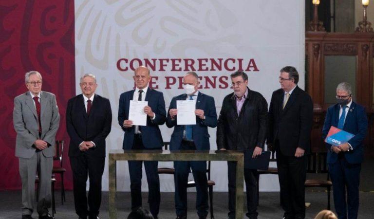 AMLO firma acuerdo con la ONU para acabar con corrupción en la compra de medicamentos