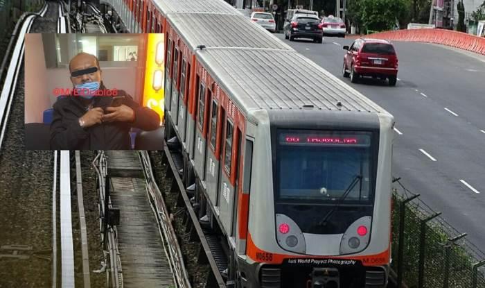 Metro CDMX: tras discusión amaga a usuarios con pistola, dice ser soldado