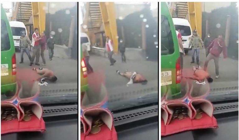 'Te sentías muy leóncito, no?': pasajeros dan tremenda golpiza a asaltante en la México-Texcoco