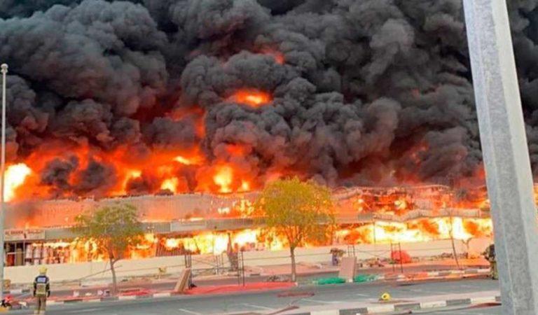 Emiratos Árabes Unidos: un gran incendio se registra en Ajman
