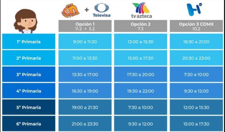SEP: los canales de TV y horarios para ver las clases en línea