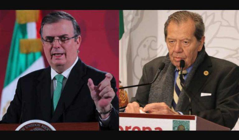 'Te vas a ir de Morena': Muñoz Ledo amenaza a Ebrard