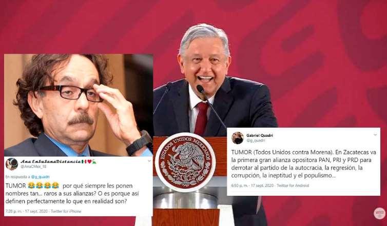 Quadri anuncia el TUMOR; alianza PRI, PAN y PRD contra AMLO y Morena