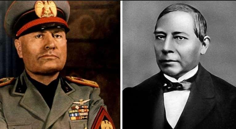 AMLO nombra Mussolini por Benito Juárez y opositores se indignan