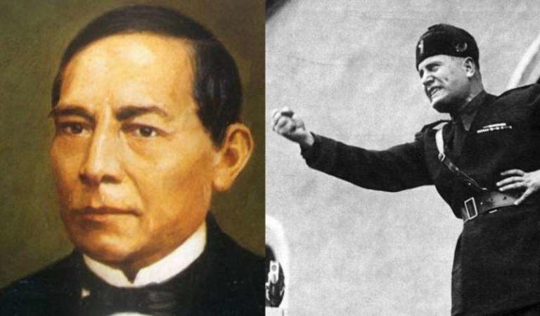 Benito Mussolini y las razones de su nombre y Juárez