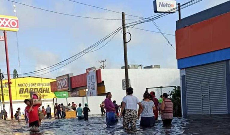 Aprovechan inundaciones para saquear negocios en Tabasco | VIDEOS