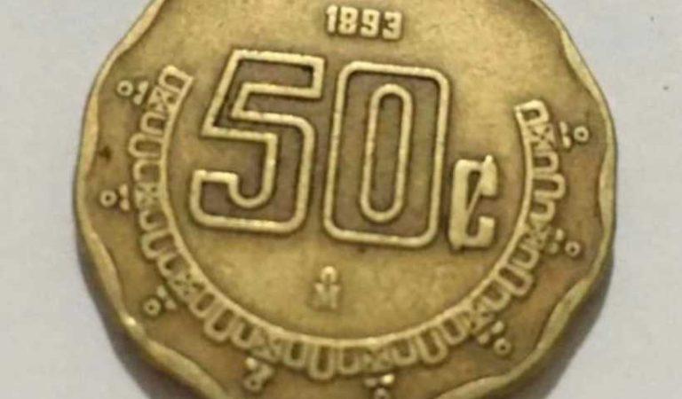 Monedas de 50 centavos podrían venderse en más de 3 mil pesos