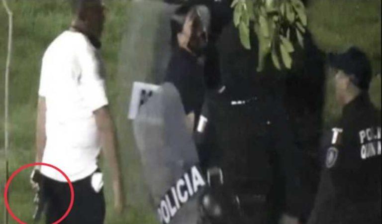 Policía vestido de civil habría disparado durante protestas en Cancún