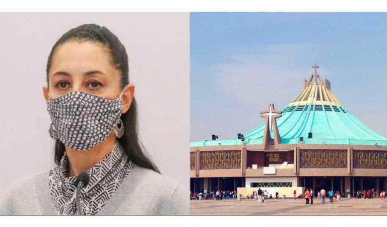 Todavía no hay certeza que la Basílica de Guadalupe abrirá el 12 de diciembre: Sheinbaum