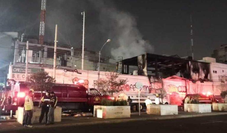 CFE controla incendio y reestablece servicio en Coyoacán; no hay víctimas