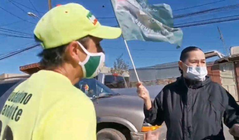 Frena protesta en mitin de AMLO en Tijuana, agreden a AMLOvers