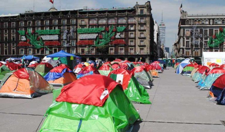 Frena abandona a manifestantes y los deja 'morir de hambre' en el Zócalo #GranDespertarMx