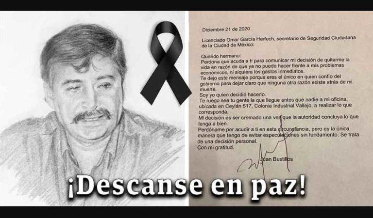 Director del semanario 'Impacto' se suicida por problemas económicos; deja carta a García Harfuch