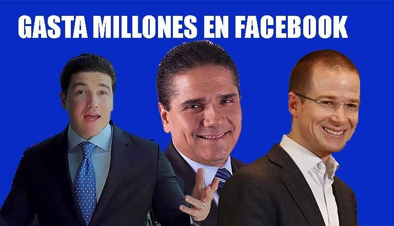 Samuel García, Aureoles y PRIAN; gastan millones en publicidad para Facebook