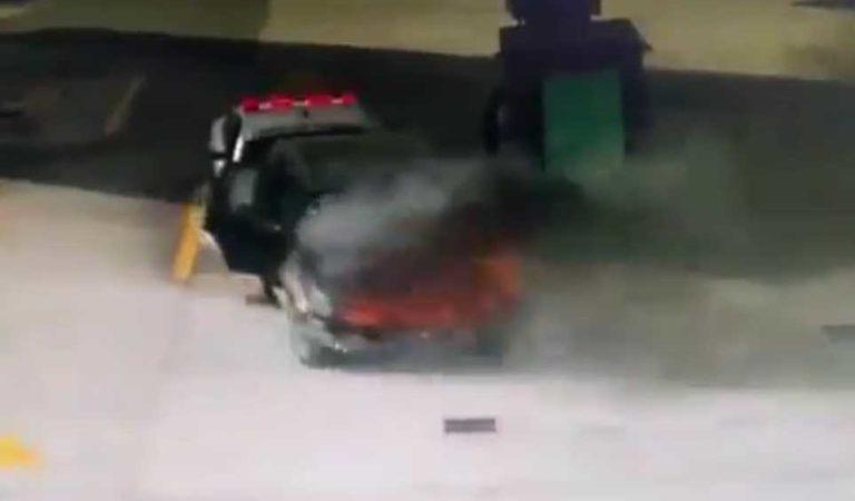 Guardia Nacional arriesga su vida y evita explosión en gasolinera de Tlaxcala | VIDEO