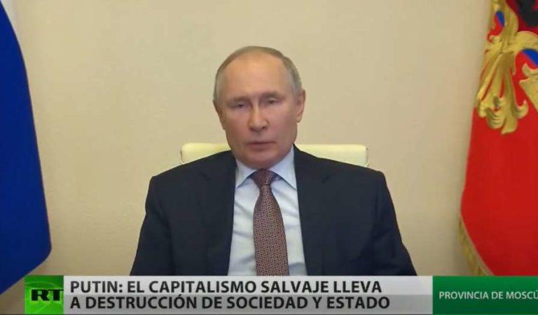 Putin condena el capitalismo salvaje y el populismo