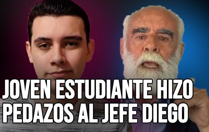 Joven tunde al Jefe Diego: 'no vas a engañar a los jóvenes en las redes' | VIDEO