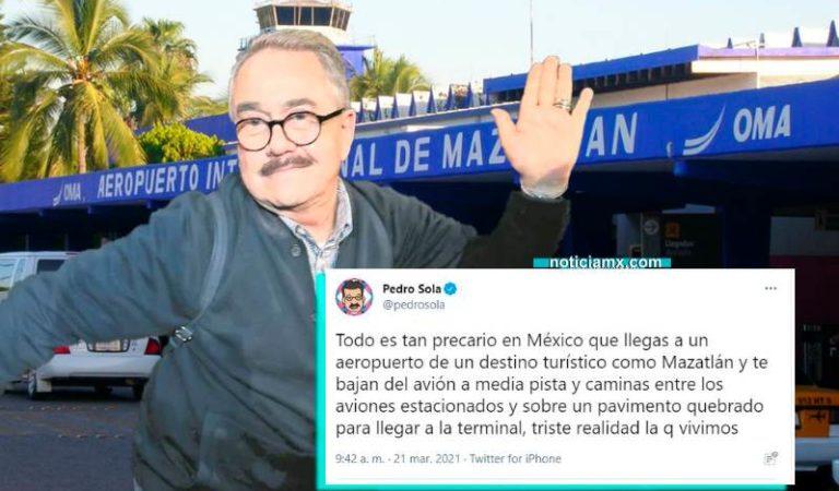 Pedro Sola se queja que Mazatlán no tenga aeropuerto de NY