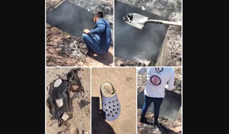 Madres buscadoras hallan pozo con cuerpos humanos ardiendo | FUERTES VIDEOS