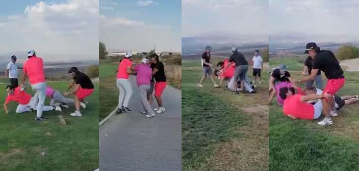 Mirreyes se golpean en juego de golf en Nuevo León; hay gritos, empujones…