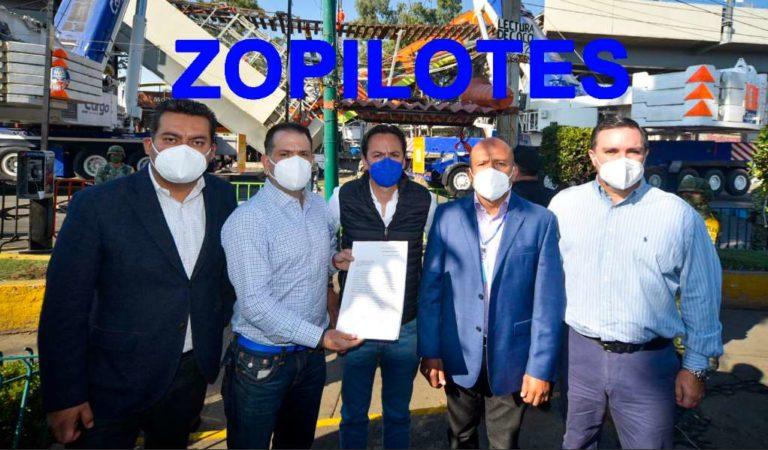 AMLO llama zopilotes a panistas y sindicato por lucrar con tragedia de Línea 12