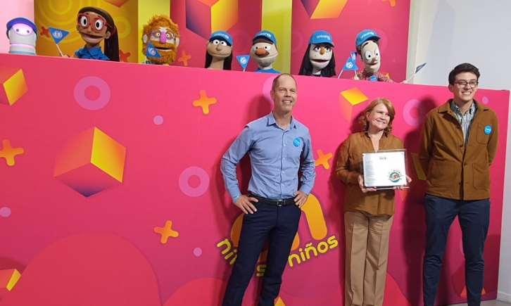 Conductores de Once Niños son nombrados Embajadores de UNICEF