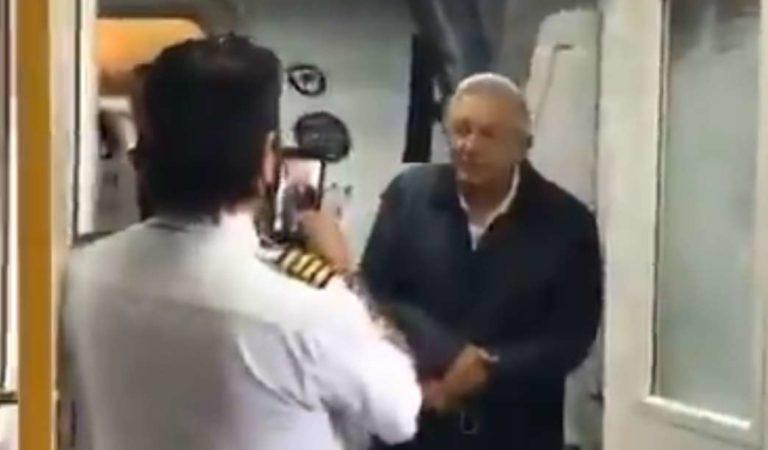 Piloto pide que AMLO le mande saludos a su mamá que siempre ve la mañanera | VIDEO