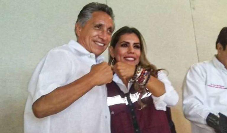 Manuel Negrete, Fuerza por México, declina por Evelyn Salgado