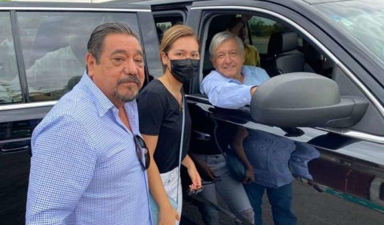 Salgado Macedonio presume emotivo encuentro con AMLO en Guerrero