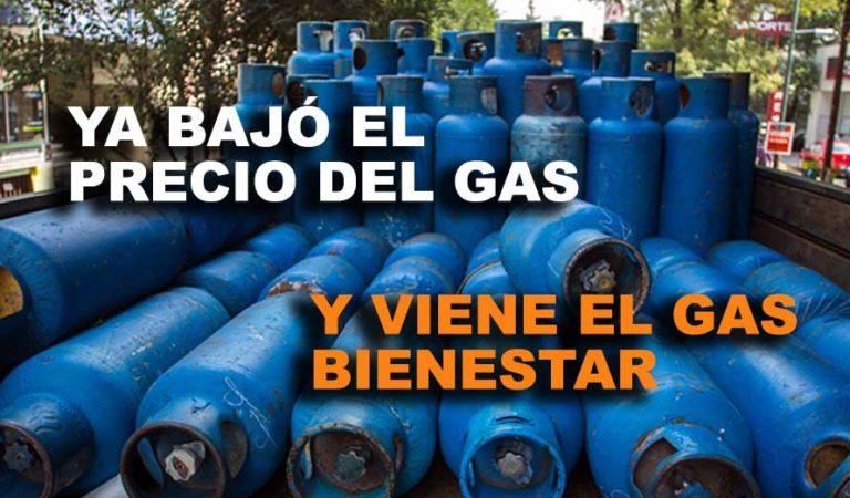 Precio del gas LP baja y ciudadanos lo presumen en redes
