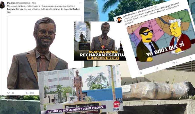 Así reaccionan en redes sobre la estatua de Eugenio Derbez | MEMES